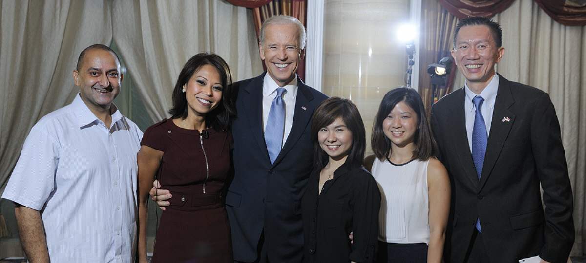 Professional Makeup Artist Singapore with U.S Vice-President Joe Biden and the Bloomberg team