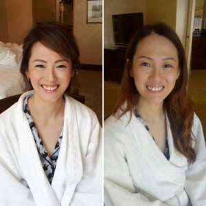 Before and After Bride Look