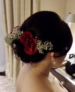 Wedding Hair Roses