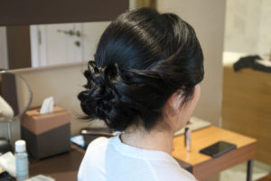 Professional wedding makeup and hair artist fionna lau