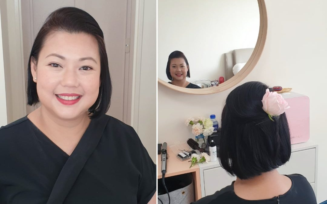 Prewedding and Husband to Be Makeup Before and After