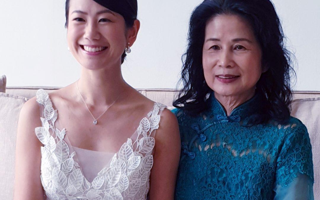 Kimberly and Mum.