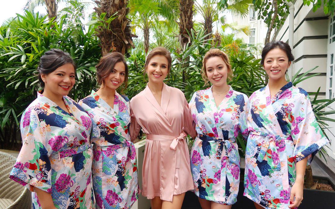 Nastia and her bridesmaids